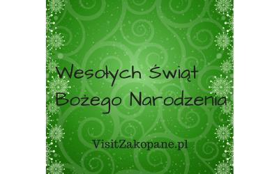 Życzenia Bożonarodzeniowe od VisitZakopane!