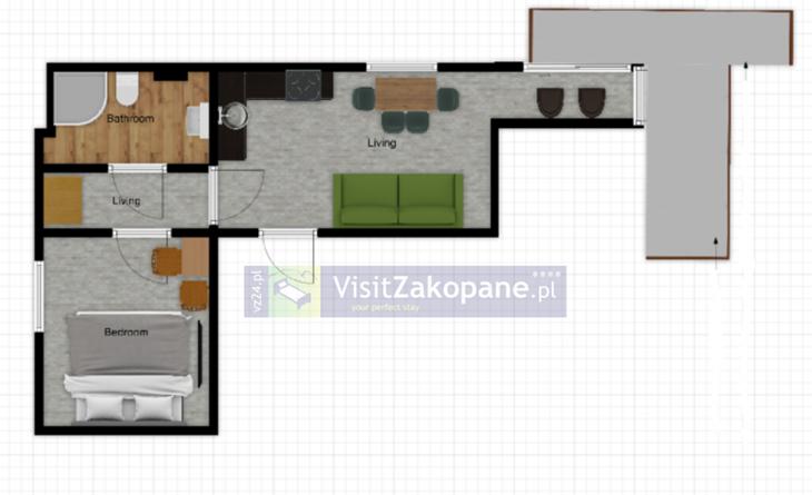 Apartamenty Zakopane - Apartament WILLA PLAN nr 4 - Zakopane
