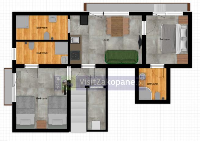 Apartamenty Zakopane - Apartament WILLA PLAN nr 1 - Zakopane